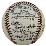 A League of Their Own: Ladies of Baseball Signed OAL Baseball (5 Sigs)(Beckett/BAS LOA)