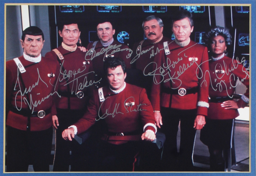 Star Trek Multi-Signed Limited Edition Heroes of the Final Frontier Display (Beckett/BAS Graded MINT 9)