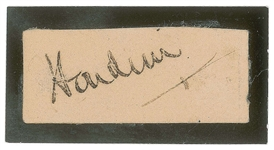 Harry Houdini Superbly Signed Cut (Beckett/BAS)