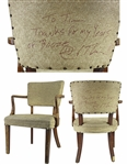 Hunter S. Thompson Signed & Inscribed Chair from The Woody Creek Tavern (Beckett/BAS LOA)
