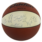 1991 LSU Tigers Team Signed Baden Basketball with Pre-Rookie Shaquille ONeal Autograph (16 Sigs)(Beckett/BAS LOA)