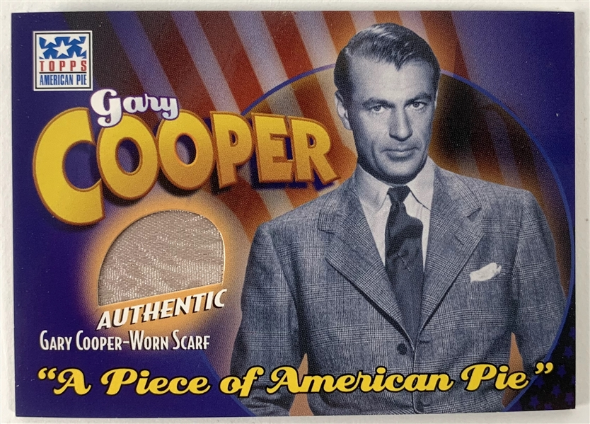 2002 Topps American Pie Gary Cooper Worn Scarf Relic Card