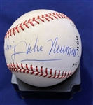 "Julie Newmar In-Person Signed Baseball with Unique ""To Wong Foo"" Inscription & Signing Photo! (Beckett/BAS Guaranteed)"