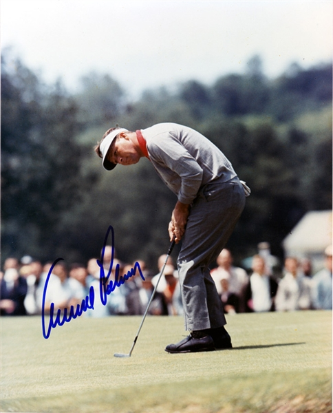 Arnold Palmer In-Person Signed 8 x 10 Color Photo (Beckett/BAS Guaranteed)