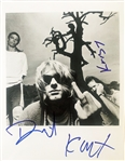 "Nirvana Amazing In-Person Signed 8"" x 10"" B&W Photograph (John Brennan Collection)(Beckett/BAS Guaranteed)"