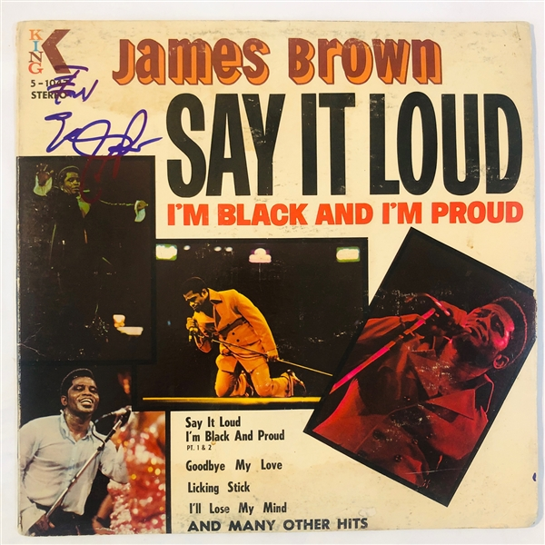 James Brown Signed Say It Loud - I'm Black and Proud Record Album (John Brennan Collection)(Beckett/BAS Guaranteed)