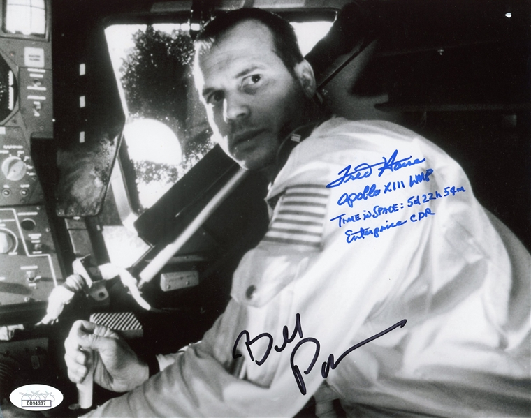 Apollo 13: Bill Paxton & Fred Haise Unique Signed 8 x 10 B&W Photo (JSA LOA)