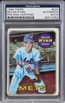 "Nolan Ryan Signed 1969 Topps #533 with ""HOF 99"" Inscription (PSA/DNA Encapsulated)"