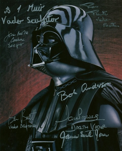 Darth Vader Multi-Signed 8 x 10 Color Photograph w/ Jones, Muir & Others! (Beckett/BAS Guaranteed)