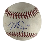Mike Trout Signed & Game Used OML Baseball - Ball Pitched to Trout! (PSA/DNA & MLB)