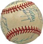 1996 Yankees Team Signed Official World Series Baseball w/ Rare Steinbrenner Signature! (PSA/DNA)