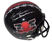 "Burt Reynolds ""The Longest Yard"" Rare Signed Suspension Helmet w/ ""Coach Scarborough"" Inscription! (JSA)"