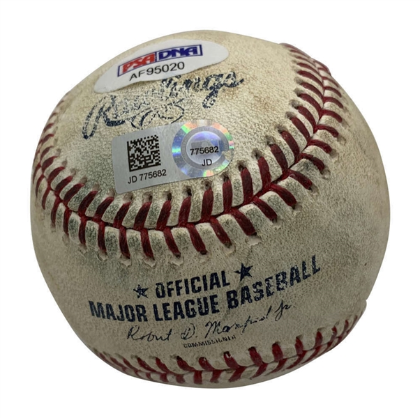 Gerrit Cole Signed & Game Used 2019 OML Baseball Pitched By Cole! (MLB & PSA/DNA)
