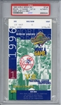1996 World Series Game 1 Ticket Stub - Jeters First World Series! (PSA)
