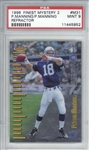 Peyton Manning 1998 Topps Finest Mystery 2 Refractor Rookie Card - PSA Graded MINT 9