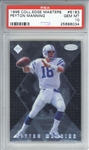 Peyton Manning 1998 College Edge Masters Rookie Card /5000 - PSA Graded GEM MINT 10