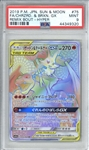 Charizard & Braixen GX Pokemon Japanese Sun & Moon Remix Bout Hyper Trading Card (PSA Graded MINT 9)