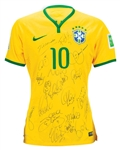 Brazil National Team Legends Signed NIKE Jersey w/ 18 Sigs (JSA)
