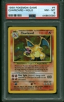 Iconic Modern Investment: Charizard 1999 Pokemon Game #4 Holographic Trading Card - PSA NM 8!