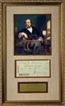 Charles Dickens Signed 1866 Bank Check Framed Display (JSA)