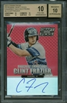 Clint Frazier Signed 2013 Panini Prizm Rookie Card BGS Graded 10 - 10!