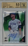 Kris Bryant Signed 2015 Topps Finest Autographs Green Refractors - BGS 9.5 w/ 10 Auto