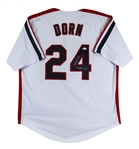 "Corbin Bernsen Major League ""Dorn"" Signed White Pro Style Jersey (Beckett COA)"
