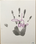 "Johnny Depp Signed 9"" x 11"" Art Board Featuring Original Hand Print :: 1 of 3 Known to Exist! (ACOA)(Beckett/BAS Guaranteed)"