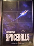 "Mel Brooks Signed ""Spaceballs"" 26 3/4"" x 40"" Full Sized Advance Movie Poster (Beckett/BAS Guaranteed)"