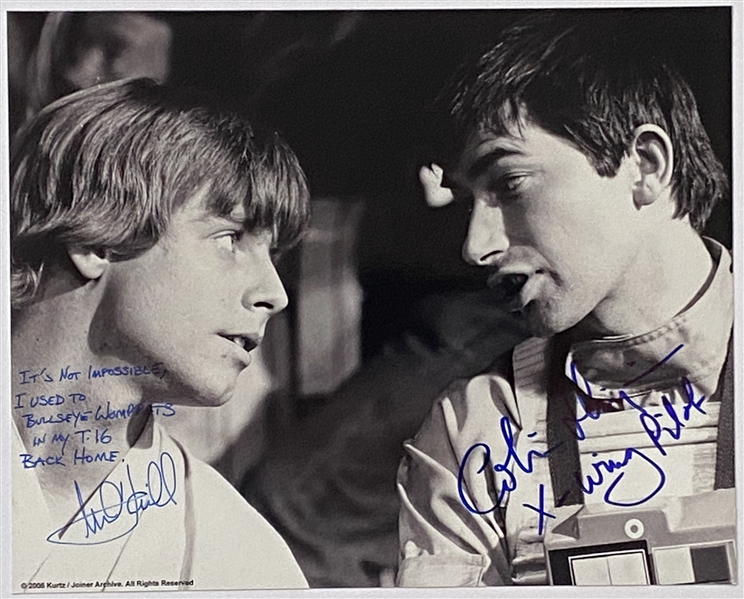 "Star Wars: Mark Hamill 10"" x 8"" Signed Photo with Great Inscription from ""A New Hope"""