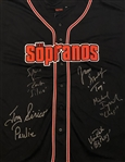 The Sopranos In-Person MULTI CAST Signed Official HBO Baseball Jersey INCLUDING JAMES GANDOLFINI As Tony Soprano (Beckett/BAS Guaranteed)