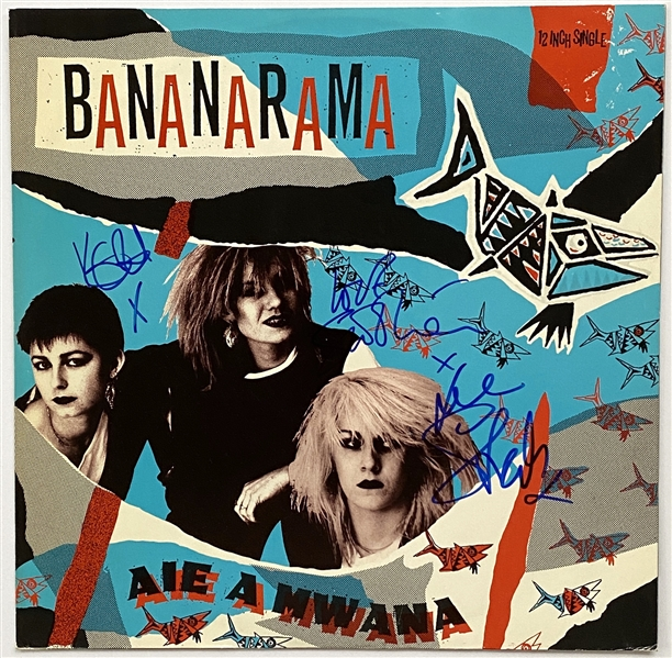 "Bananarama In-Person Group Signed 12"" Single Record (3 Sigs) (John Brennan Collection) (Beckett/BAS Guaranteed)"