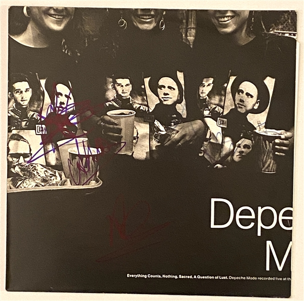 "Depeche Mode Group Signed ""Everything Counts/Nothing/Sacred/A Question Of Lust"" 12"" UK EP Record Album (4 Sigs) (John Brennan Collection) (JSA)"