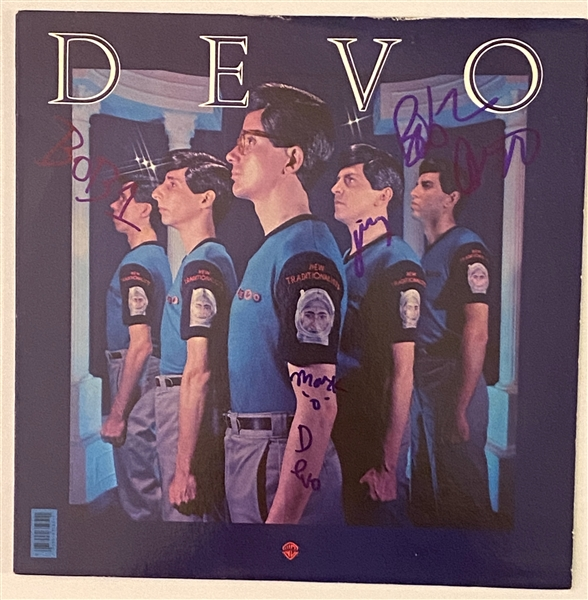 "Devo In-Person Group Signed ""New Traditionalists"" Record Album (John Brennan Collection) (BAS Guaranteed)"