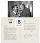 Dr. Martin Luther King Jr. Typed Signed Letter to Sammy Davis Jr. with Tremendous Civil Rights Content & Frank Sinatra Reference! (Beckett/BAS LOA)