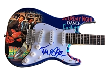 Michael J. Fox Signed Stratocaster Style Electric Guitar with Custom Wrapped Artwork (Beckett/BAS COA)