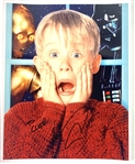 "Macaulay Culkin In-Person Signed 8"" x 10"" Color Photo from ""Home Alone"" with Signing Proof (Beckett/BAS LOA)"