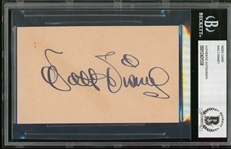 "Walt Disney Signed 3"" x 5"" Index Card with Exceptional Fountain Pen Ink Autograph (Beckett/BAS Encapsulated)"