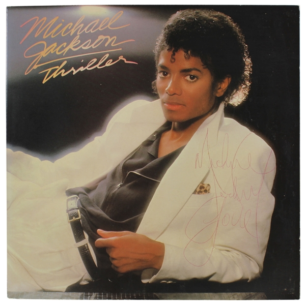 Michael Jackson Signed Thriller Record Album with Desirable Early 80's Autograph (JSA)