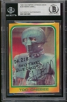 "Star Wars: Mark Hamill Uniquely Signed & Inscribed 1980 Topps ""Empire Strikes Back"" Trading Card (Beckett/BAS Encapsulated)"