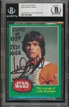 "Mark Hamill Signed 1977 Topps Star Wars #263 Trading Card with ""Class of 1977 Jedi High"" Inscription (Beckett/BAS Encapsulated)"