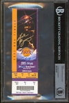 Kobe Bryant & Shaquille ONeal Dual Signed 2001 NBA Finals Full Game 1 Ticket (Beckett/BAS Encapsulated & Panini COA)