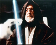 "Sir Alec Guinness Superb Signed 8"" x 10"" Color Photograph as Obi-Wan Kenobi! (Beckett/BAS LOA)"