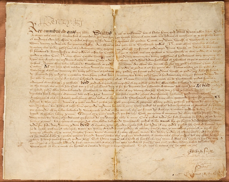 King Henry VIII Extraorinarily Rare Signed Document in Custom Display :: Signed The Day His Last Will Was Revised (Beckett/BAS LOA)