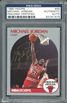 Michael Jordan Signed 1990 Hoops Trading Card #65 (PSA/DNA Encapsulated)