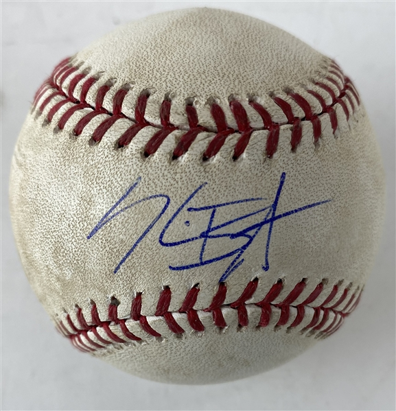 Kris Bryant Signed & Game Used 2016 August 31st, 2016 Contest During MVP Year! (PSA/DNA & MLB)