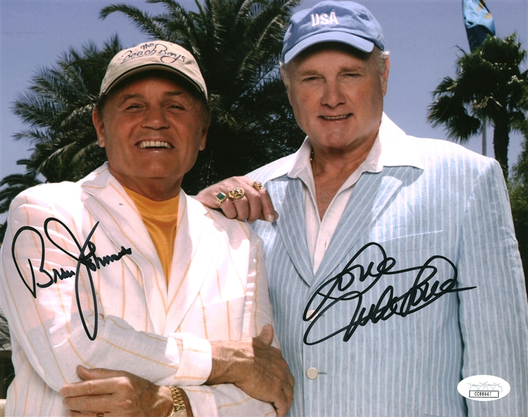 The Beach Boys: Mike Love and Bruce Johnston Signed 8 x 10 Color Photo (JSA)