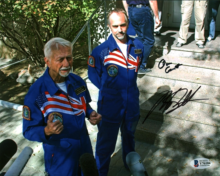 Owen and Richard Garriott Signed 8 x 10 Photograph (Beckett/BAS COA)