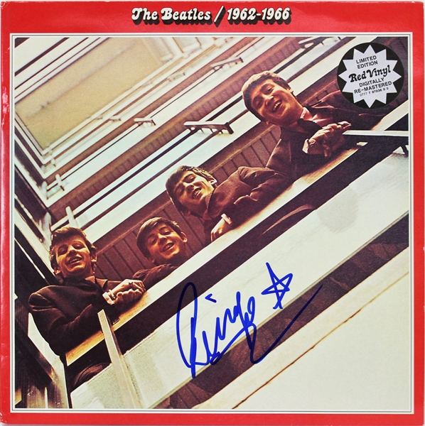 The Beatles: Ringo Starr Signed The Beatles: 1962-1966 Record Album (JSA)