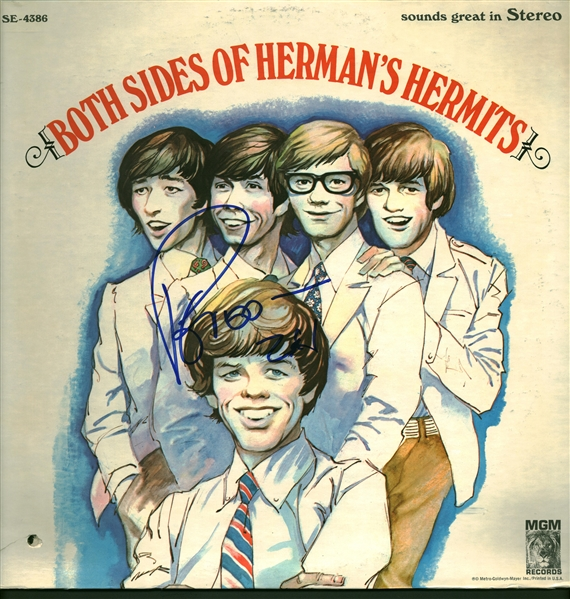 Peter Noone Signed Both Sides of Hermans Hermits Album (Beckett/BAS)